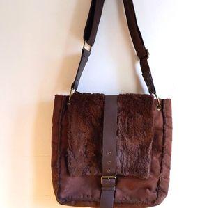 JACOB Fun faux-fur bag Messenger bag new